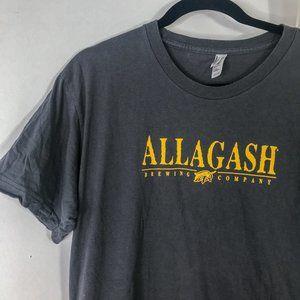American Apparel Grey Allagash Graphic Tee Shirt
